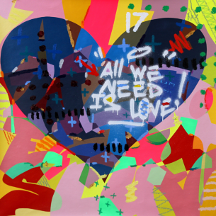 All we need is love - oeuvre de kongo - série Love is the answer Kongo